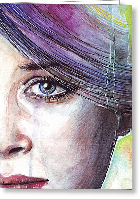 Prismatic Visions Greeting Card by Olga Shvartsur