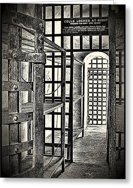 Greeting Card featuring the photograph Prison Cell ... by Chuck Caramella