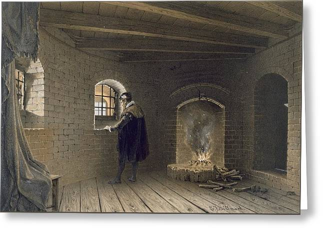 Prison Of Duke John, Son Of Gustav I Greeting Card by Karl Johann Billmark