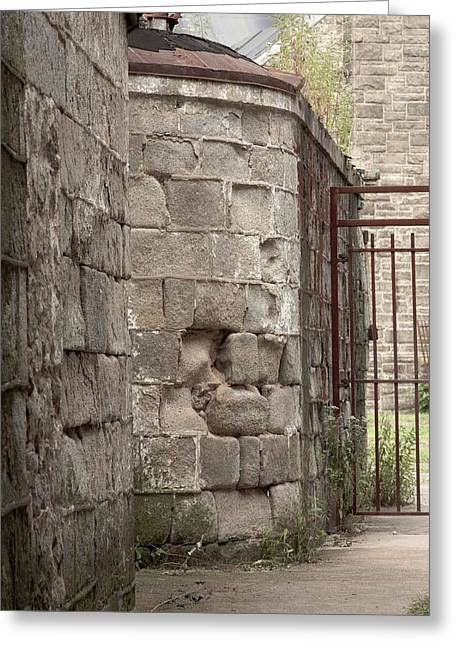 Greeting Card featuring the photograph Prison Yard by Patrice Zinck
