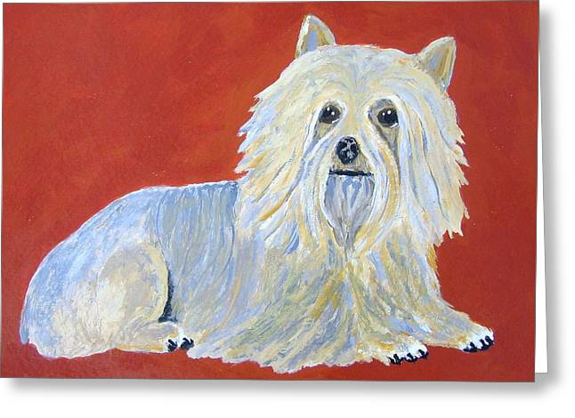 Greeting Card featuring the painting Prissy by Suzanne Theis