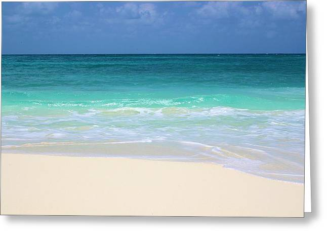 Pristine Beach Cancun Greeting Card