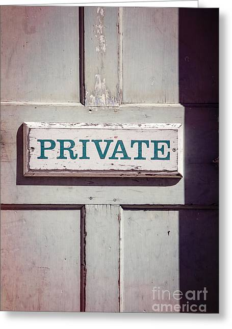 Private Doorway Greeting Card by Edward Fielding