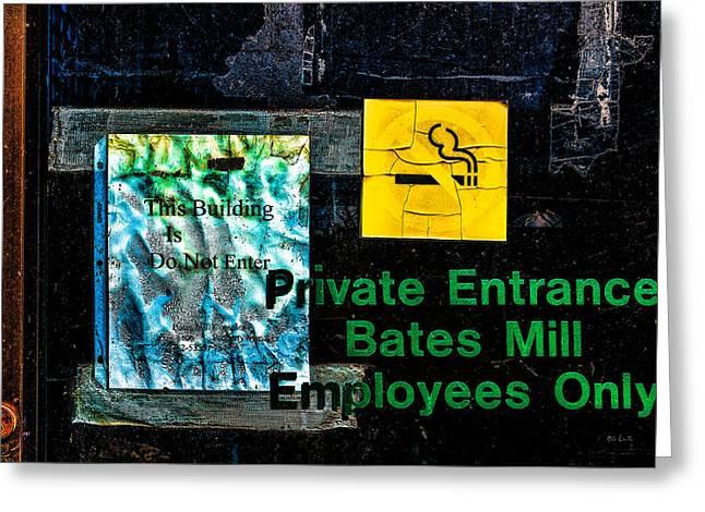Private Entrance Greeting Card by Bob Orsillo