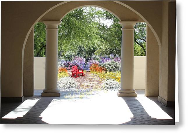 Private Garden Greeting Card by Kume Bryant