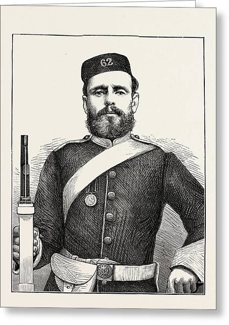 Private George Bryant, Champion Shot Of The British Army Greeting Card by English School
