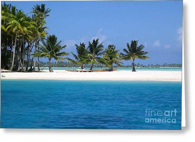 Private Motu Bora Bora Greeting Card by Camilla Brattemark