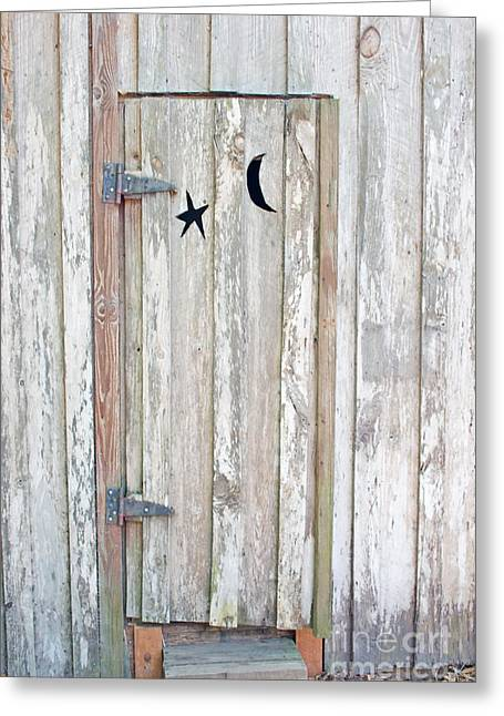 Privy Door Greeting Card