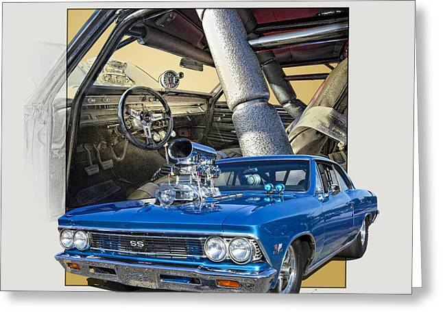Pro Street 1966 Chevelle Ss  Greeting Card