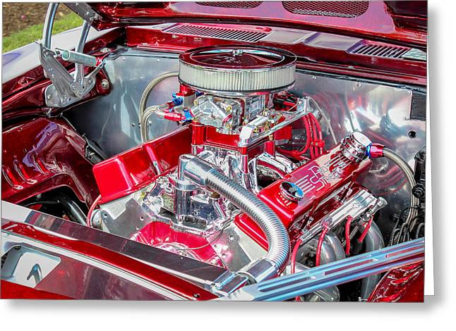 Greeting Card featuring the photograph Pro Street Hot Rod Engine  by Trace Kittrell