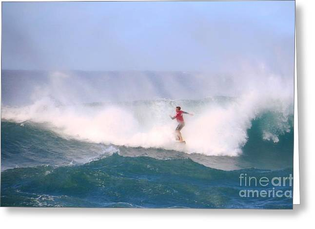 Pro Surfing Sunset Beach Hawaii Greeting Card