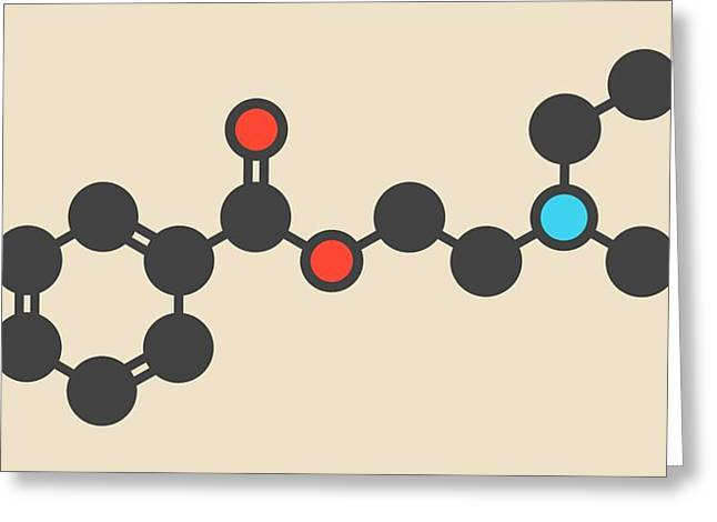 Procaine Topical Anesthetic Drug Molecule Greeting Card
