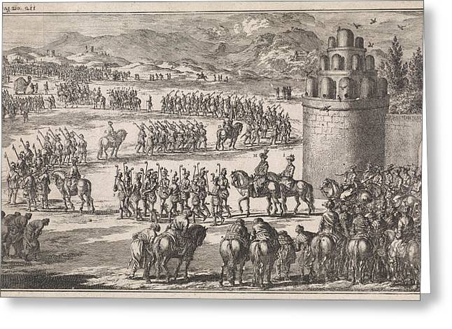Procession At The Exit Of The King Of Persia Greeting Card