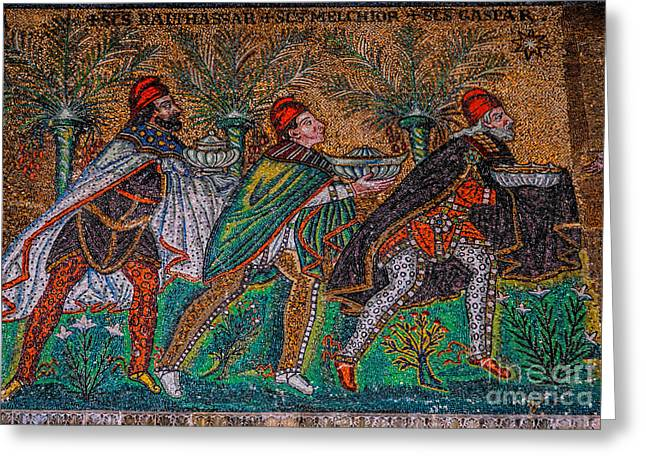 Procession Of The Magi Greeting Card