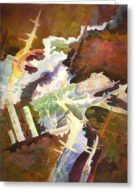 Profane Abuse Of The Earth Greeting Card by Susan Cafarelli Burke