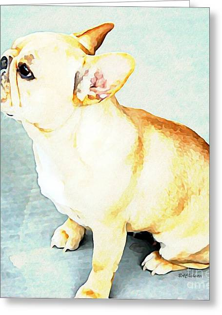 Profile In Frenchie Greeting Card