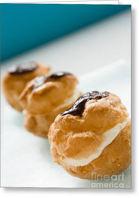 Profiterole Dessert Greeting Card by Mythja  Photography