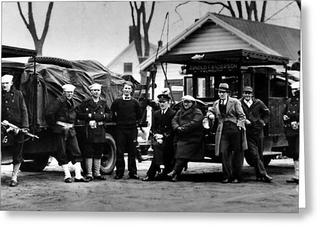 Prohibition Guardsmen Greeting Card by Jon Neidert