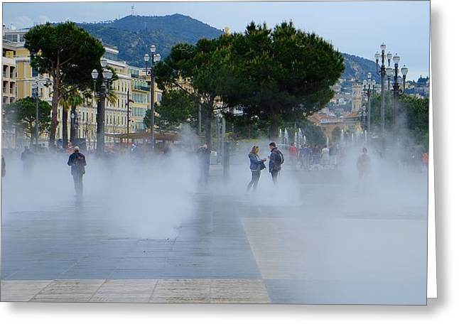 Promenade Des Arts Nice Greeting Card
