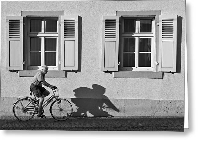 Promenade Of A Shadow Greeting Card by Jean-Pierre Ducondi