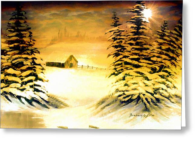 Promises Of A Brighter Day Greeting Card by Barbara Griffin