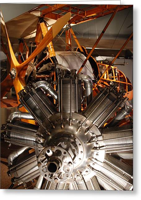Prop Plane Engine Illuminated Greeting Card