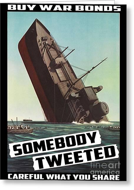 Propaganda Redone Greeting Card