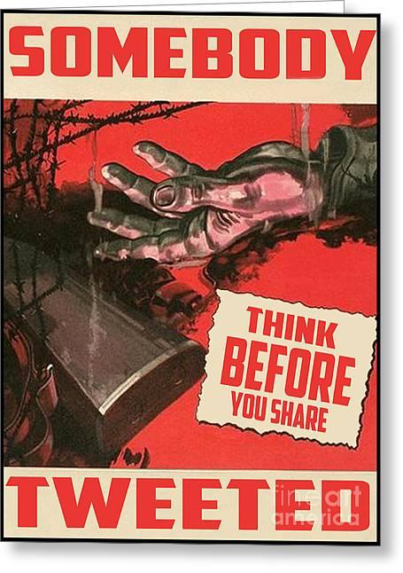 Propaganda Redone V2 Greeting Card