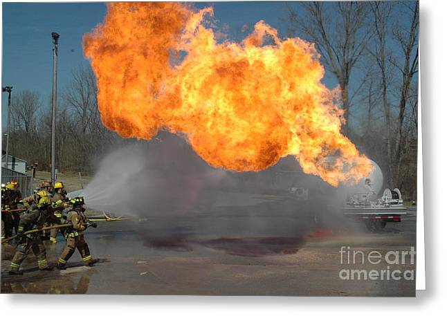 Propane Burn Greeting Card by Steven Townsend