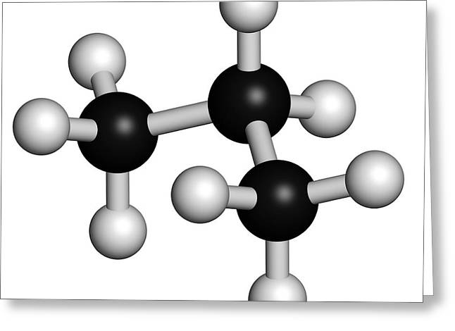 Propane Hydrocarbon Molecule Greeting Card