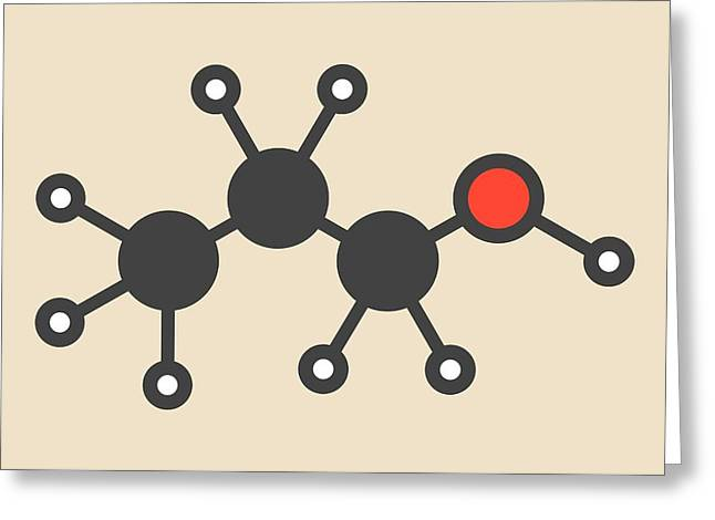 Propanol Solvent Molecule Greeting Card by Molekuul