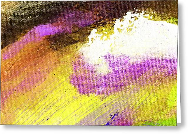 Propel Yellow Purple Greeting Card by L J Smith