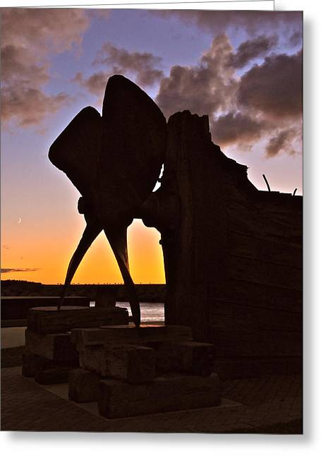 Propeller At Quarry Park Sunset Greeting Card