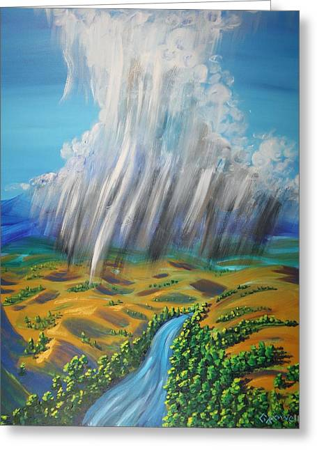 Prophesy My Reign  My River Greeting Card by Gary Rowell