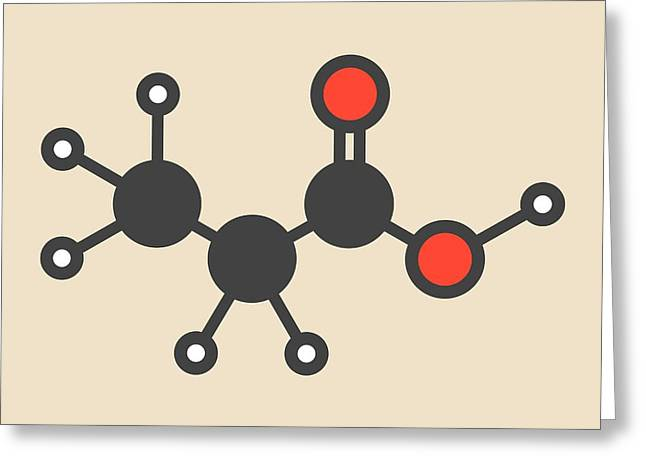 Propionic Acid Molecule Greeting Card