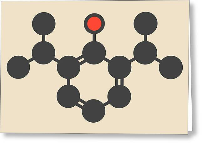 Propofol Anesthetic Drug Molecule Greeting Card