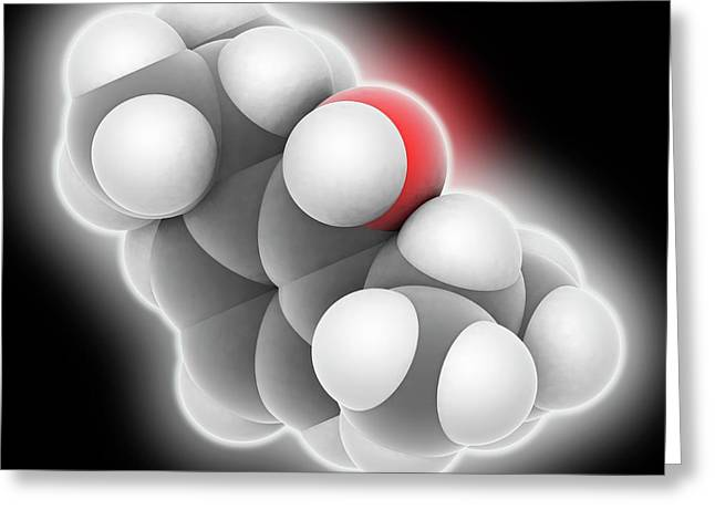 Propofol Drug Molecule Greeting Card by Laguna Design