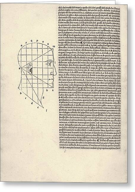Proportions Of The Human Face Greeting Card by Library Of Congress