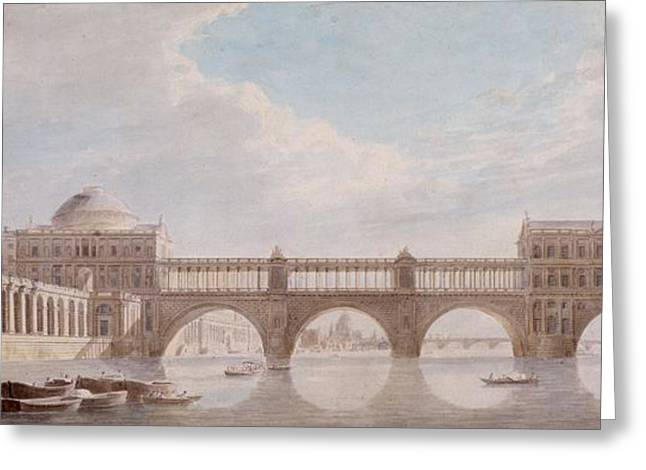 Proposed Design For A Bridge Greeting Card by Thomas Sandby