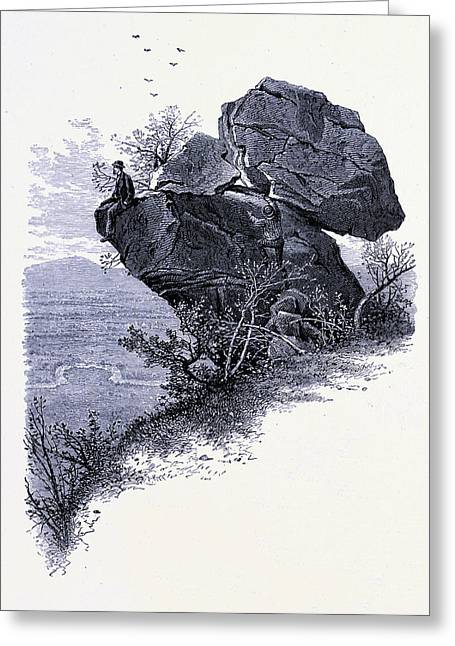 Prospect Rock United States Of America Greeting Card by American School