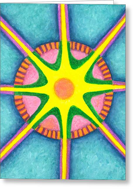 Prosperity Mandala Greeting Card