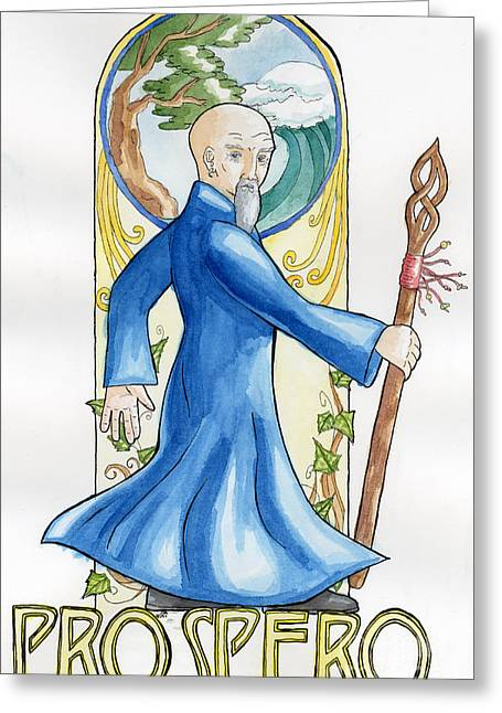 Prospero Greeting Card