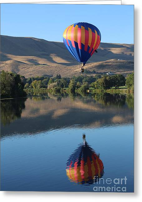 Prosser Balloon Reflection Greeting Card by Carol Groenen