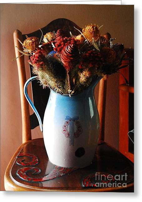 Protea Arrangement Greeting Card by Werner Van den Berg