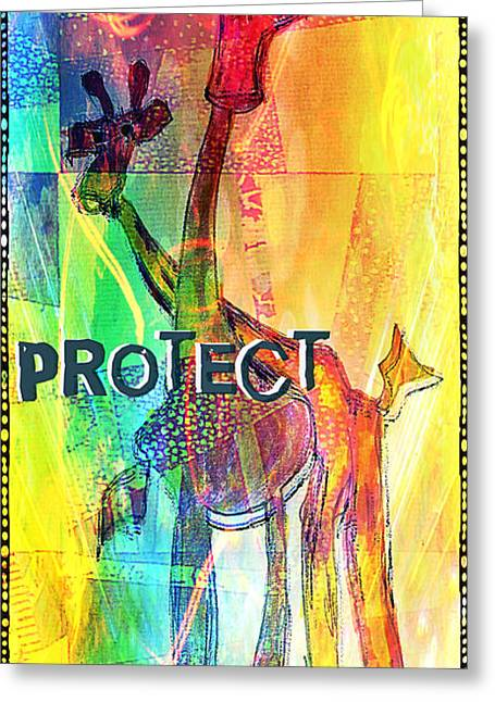 Protect Greeting Card by Currie Silver