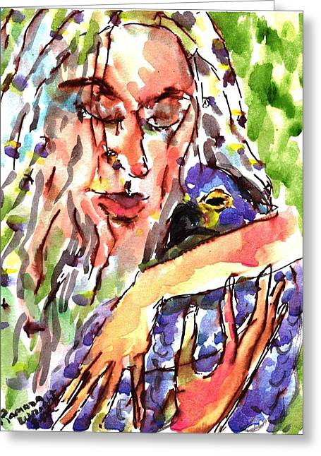 Protect Our Birds Greeting Card by Ramona Wright
