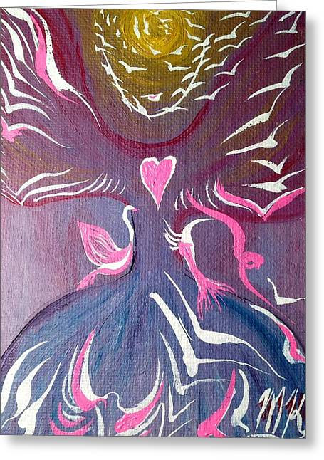 Protection Angel Greeting Card by Michaela Kraemer