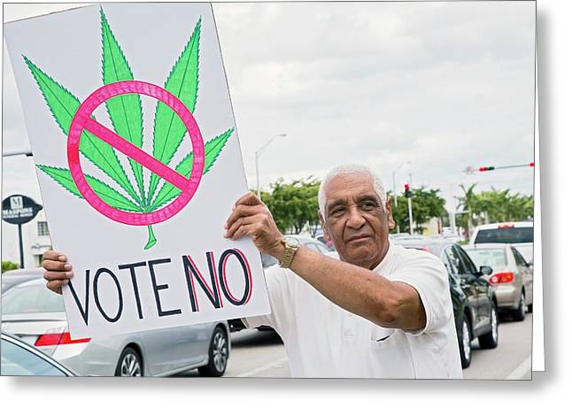 Protest Against Legalising Cannabis Greeting Card