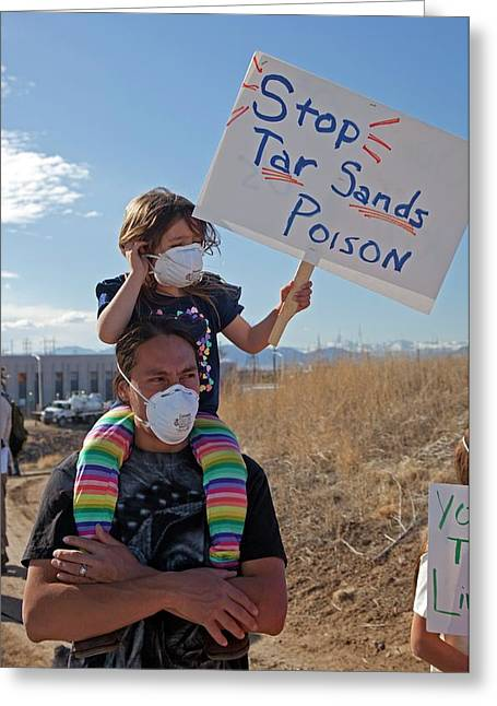 Protest Against Tar Sands Refinery Greeting Card