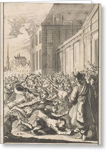 Protest Of The Population Against Cardinal Mazarin Greeting Card